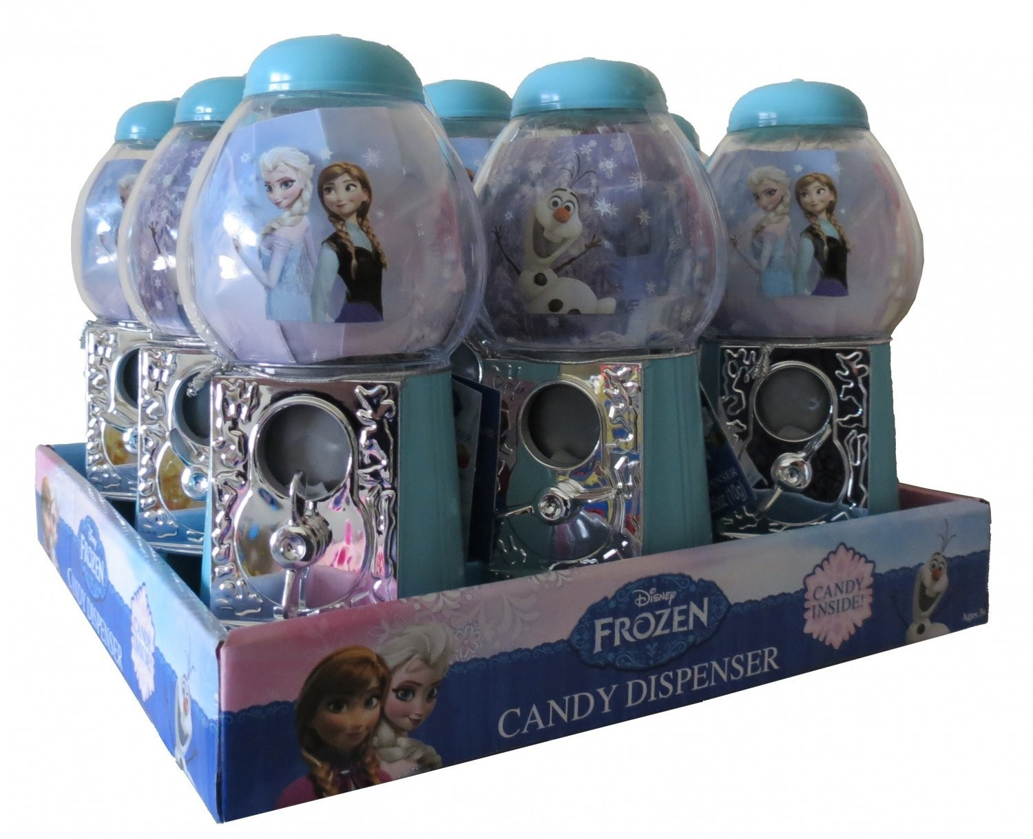 Disney 7 inch Dispenser with Candy featuring Disney's Frozen