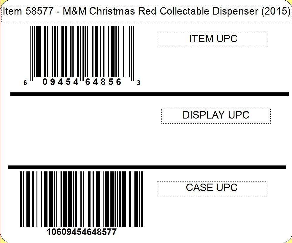 M&M's M&M'S® Christmas Collectable Character Dispenser