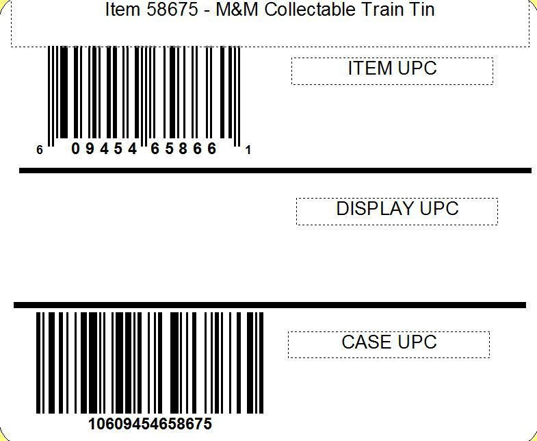 M&M's M&M'S® Collectable Train Tin