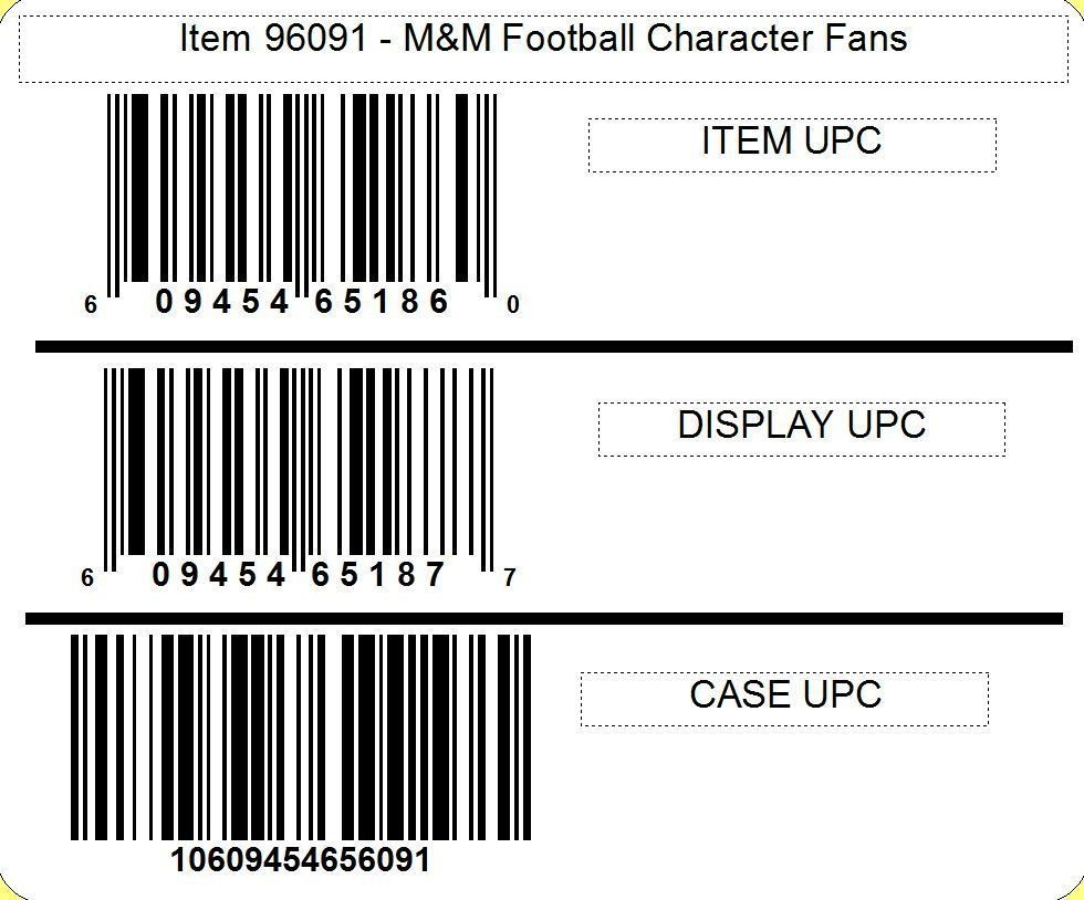 M&M's M&M'S ® Football Character Fan