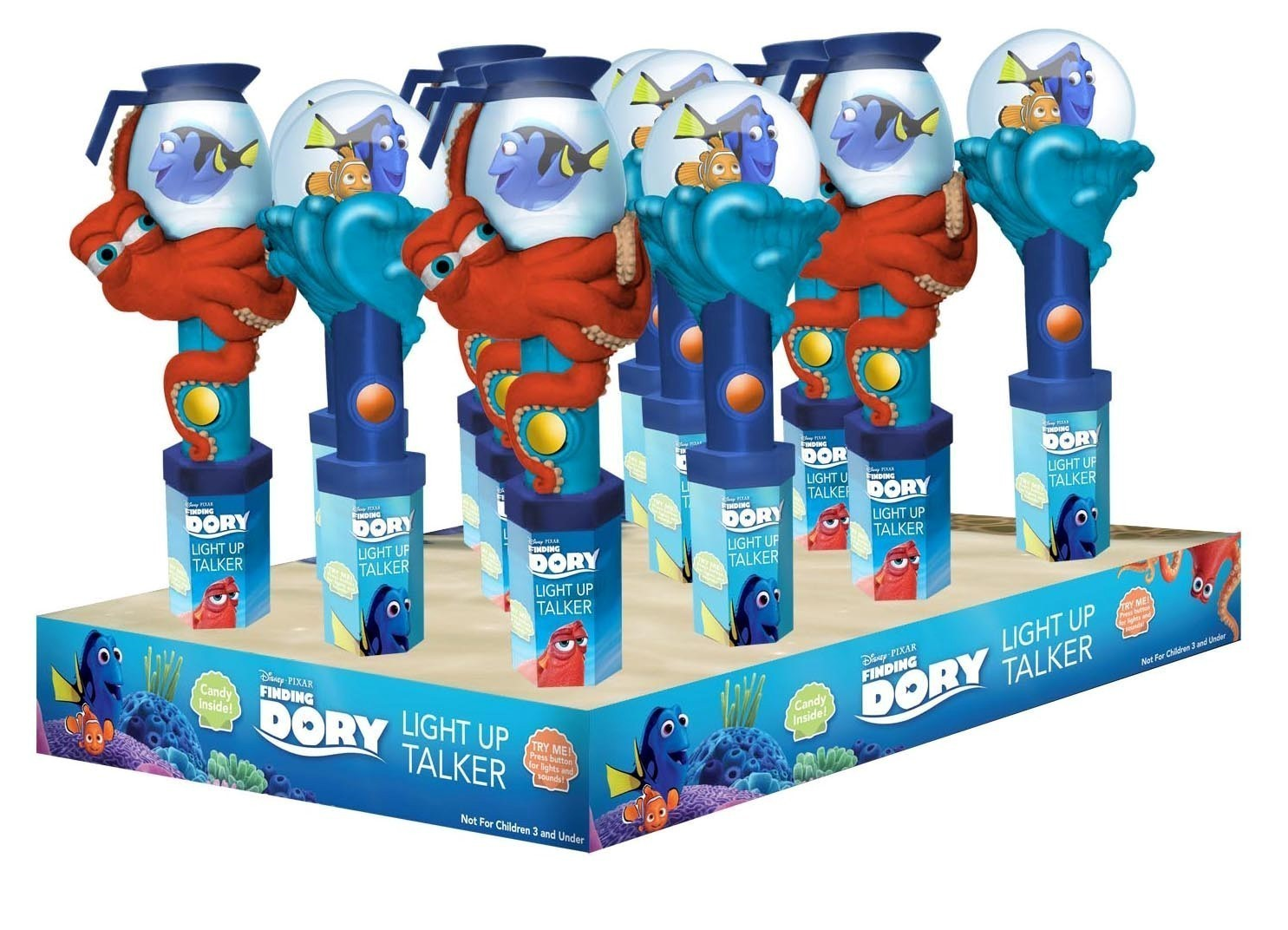 Disney ©Disney•Pixar Finding Dory Light & Sound Wand with candy