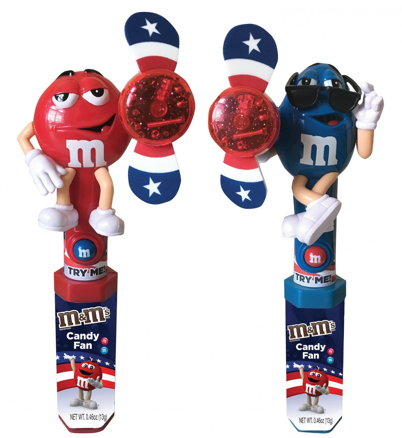 M&M's M&M'S ® Red, White & Blue Character Fan