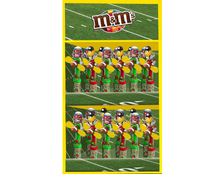 M&M's M&M'S ® Football Display Panel, 24ct